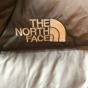The North Face Jackets & Coats - Vtg  The North Face silver Nuptse Puffer Jacket  L